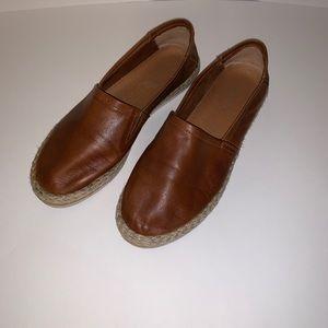 Aldo Leather Espadrille Flats